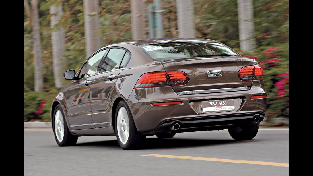 Qoros 3 Sedan 1.6T, Heckansicht
