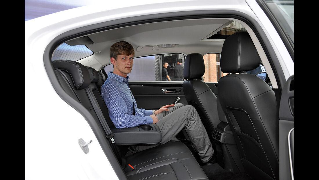 Qoros 3 Sedan, Innenraum, Fond, Rückbank
