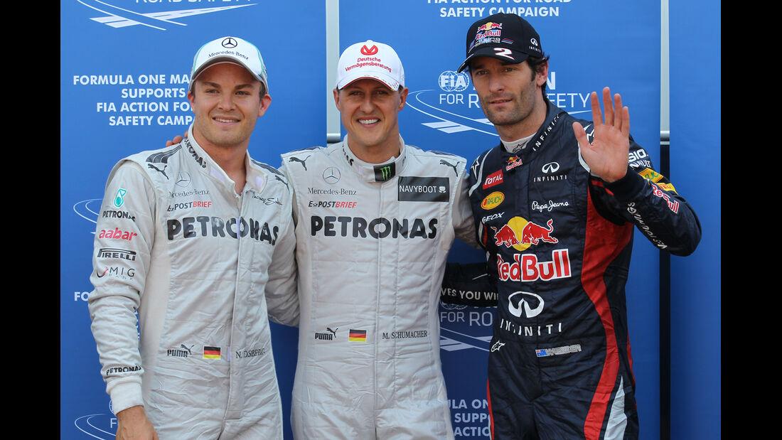 Qualifying Top 3 - Formel 1 - GP Monaco - 26. Mai 2012