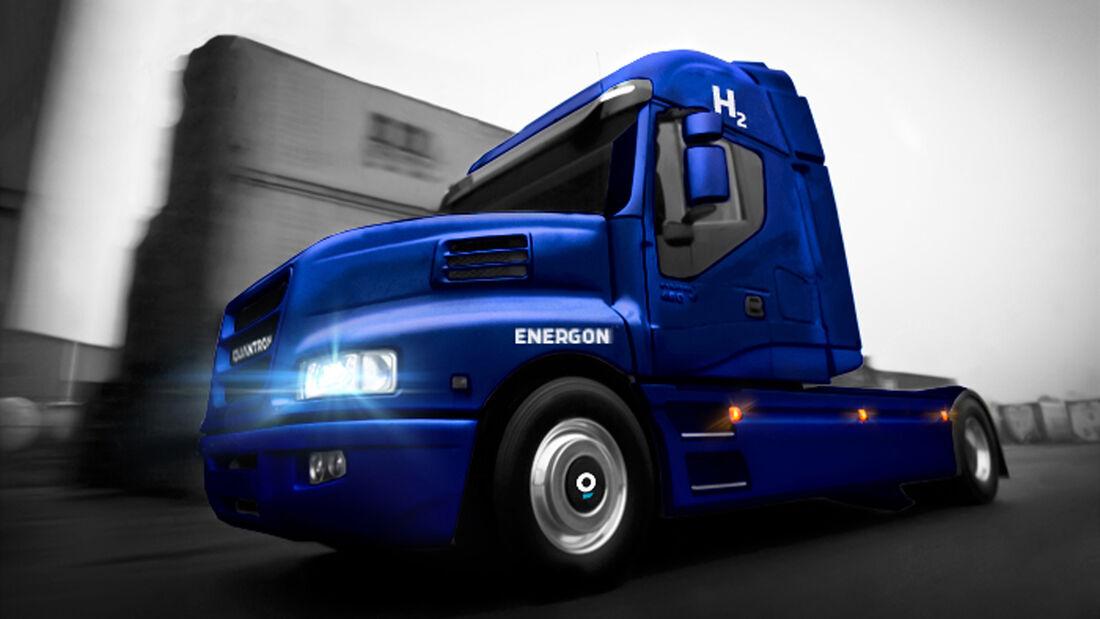 Quantron AG realisiert Brennstoffzellen-Lkw in Europa