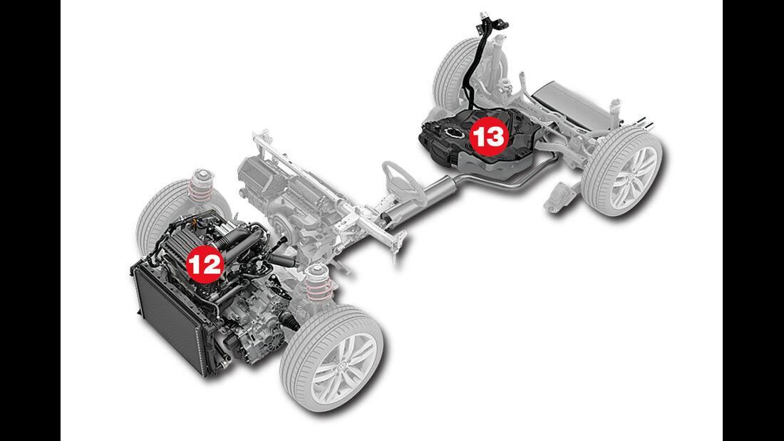 Querbaukasten, Diesel- und Ottomotoren