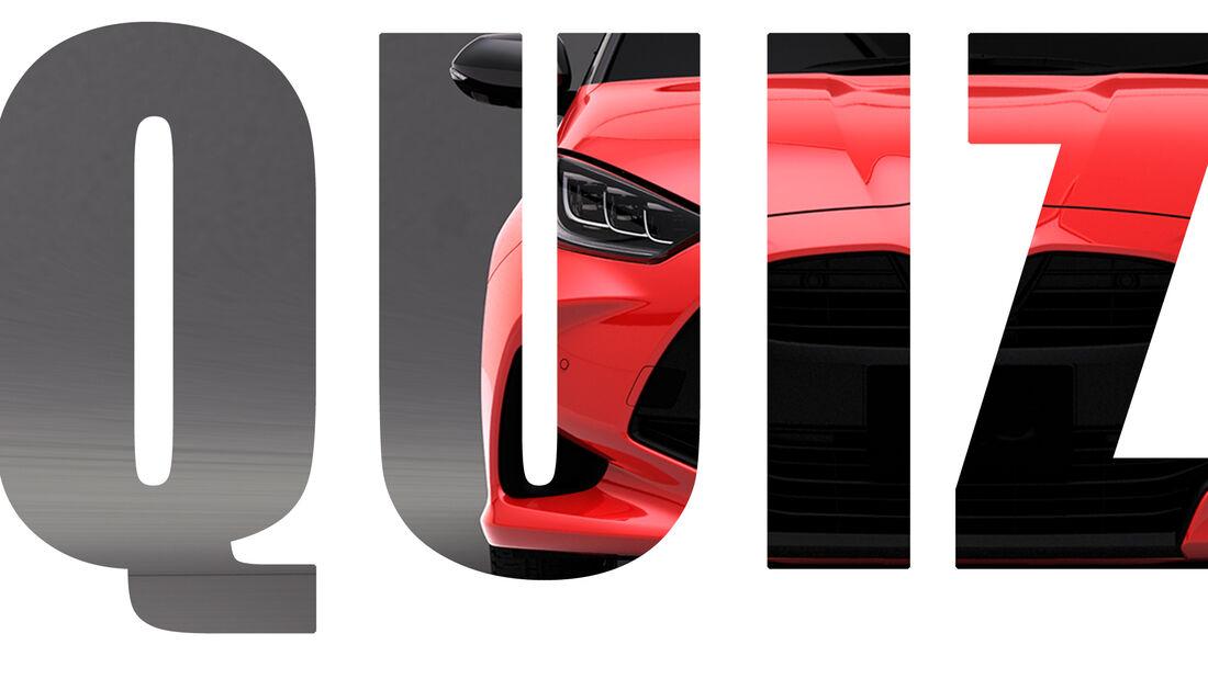 Quiz Fahrzeugfront Hersteller Logo weg