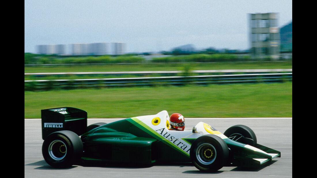 RAM-Hart - 1986 - Test - Brasilien - Formel 1