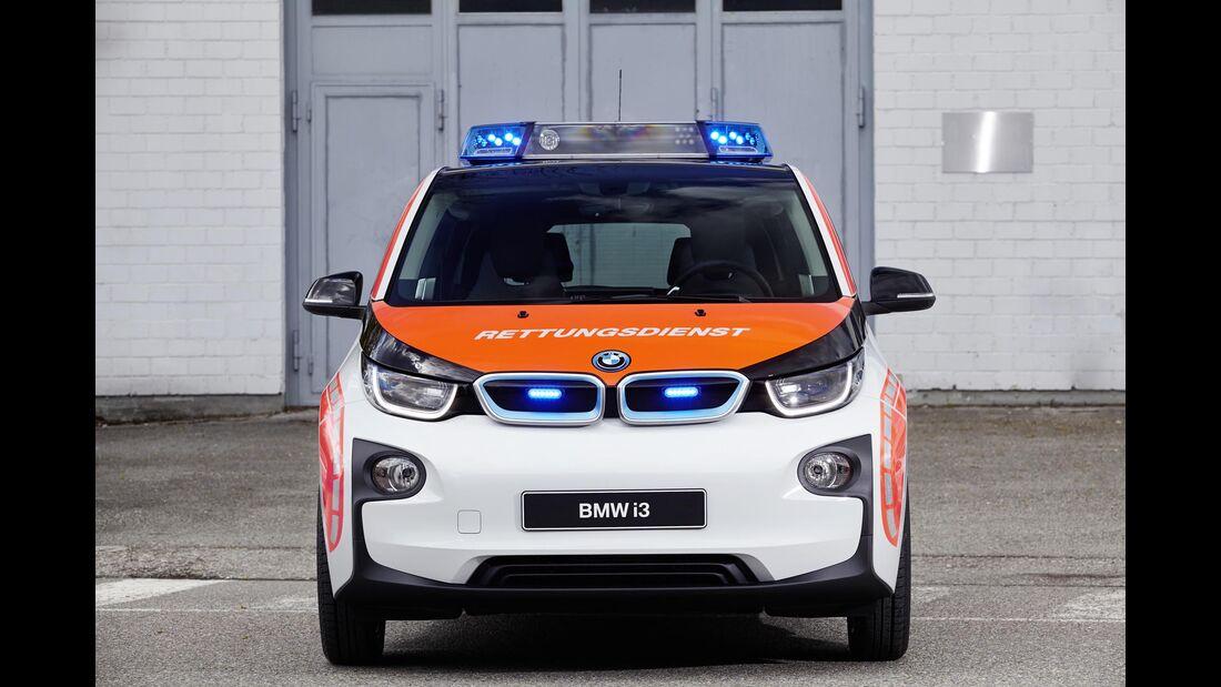 RETTMobil 2016, Einsatzfahrzeuge, Notarzt, Rettungsdienst, BMW i3,