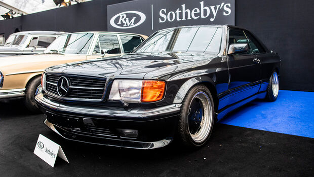 RM Sotheby's Auktion Rétromobile Paris 1989 Mercedes-Benz 560 SEC AMG 6.0 'Wide-Body'