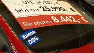 Rabattschlacht am Automarkt nun auch mit VW
