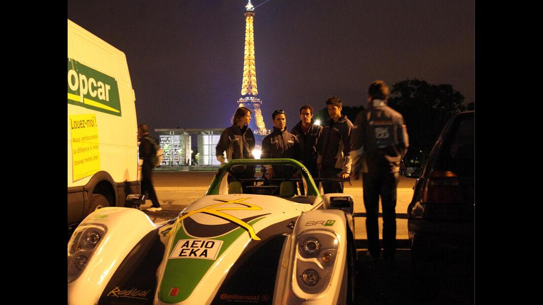 Racing Green Endurance, Radical SRZero, Elektroauto, London nach Paris, Eifelturm