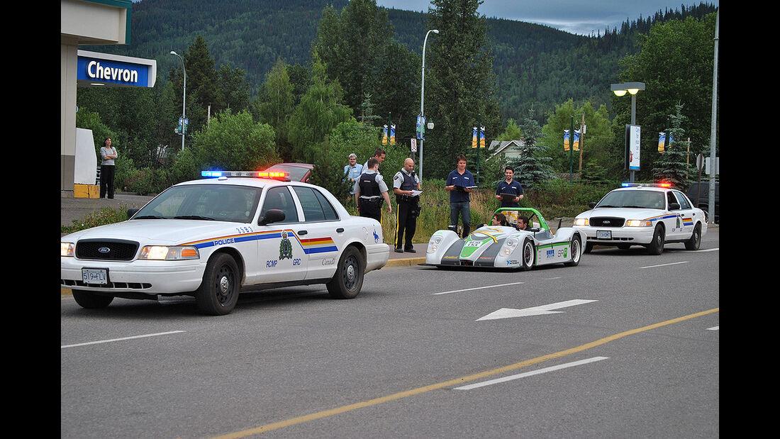 Racing Green Endurance, Radical SRZero, Elektroauto, Panamericana, Polizei