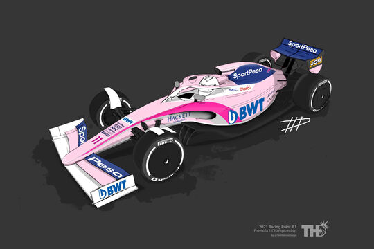 Racing Point - F1-Concept 2021 - Livery by Tim Holmes