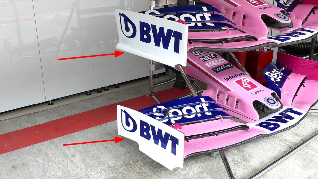 Racing Point - F1-Technik 2019 - Frontflügel