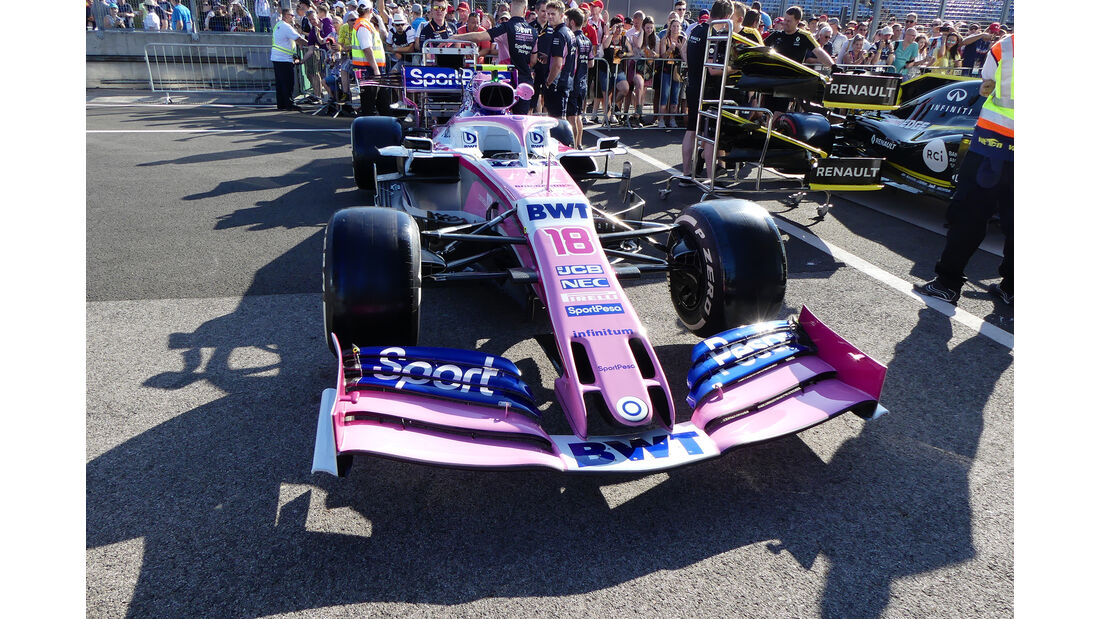Racing Point - GP Ungarn - Budapest - Formel 1 - Donnerstag - 1.08.2019