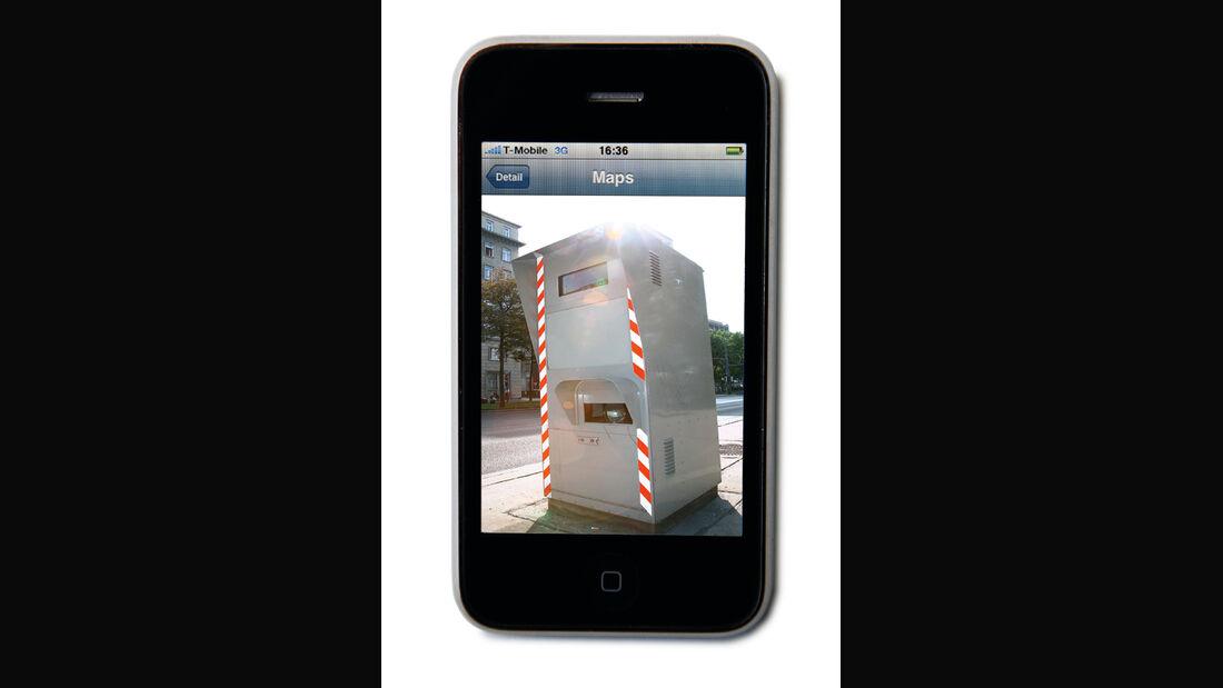 Radar-Warngeräte, iPhone