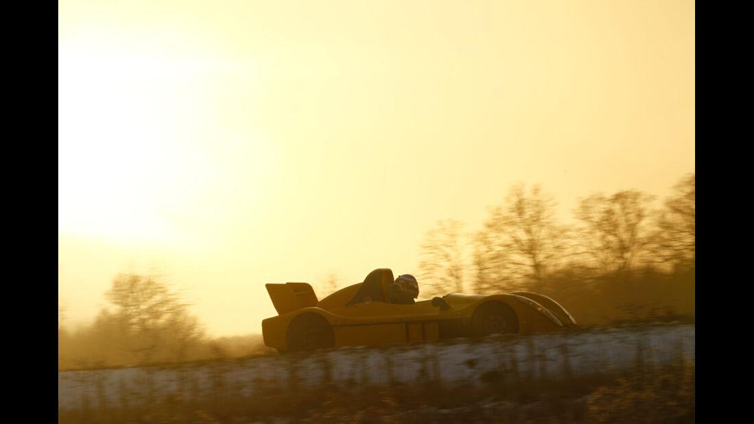 Radical SR3 SL, Seitenansicht, Sonnenaufgang