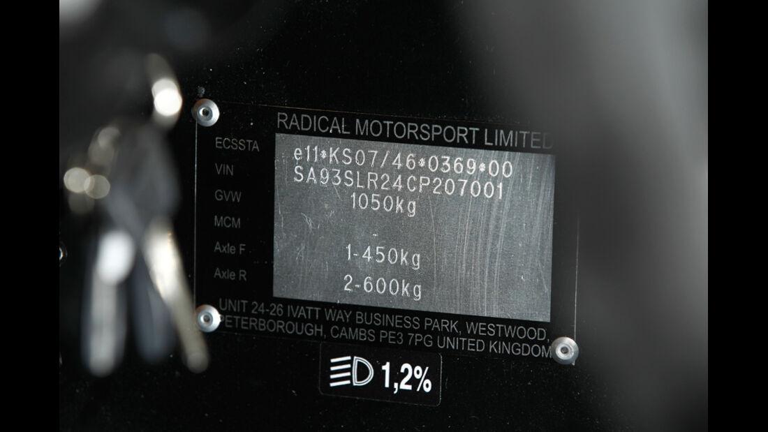 Radical SR3 SL, Seriennummer