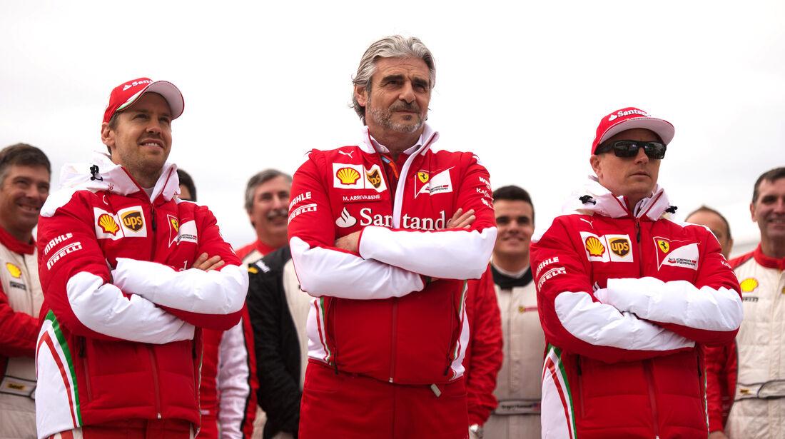 Räikkönen, Arrivabene & Vettel - GP Kanada 2016