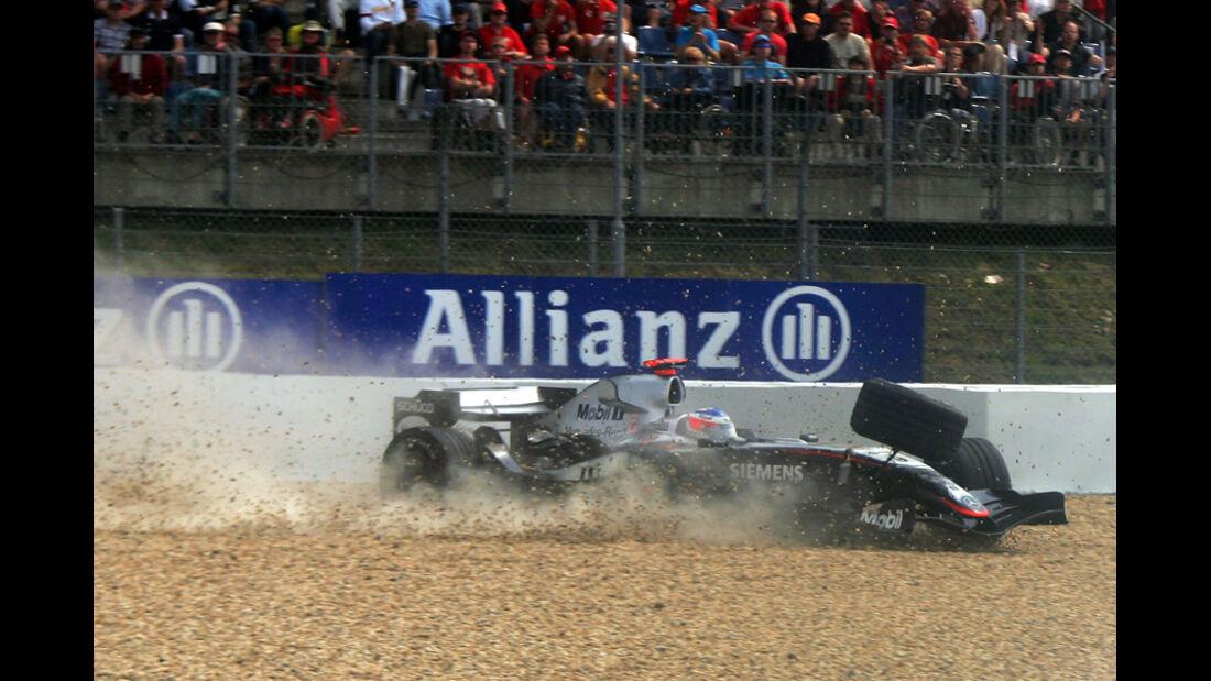 Räikkönen Crash GP Deutschland 2005
