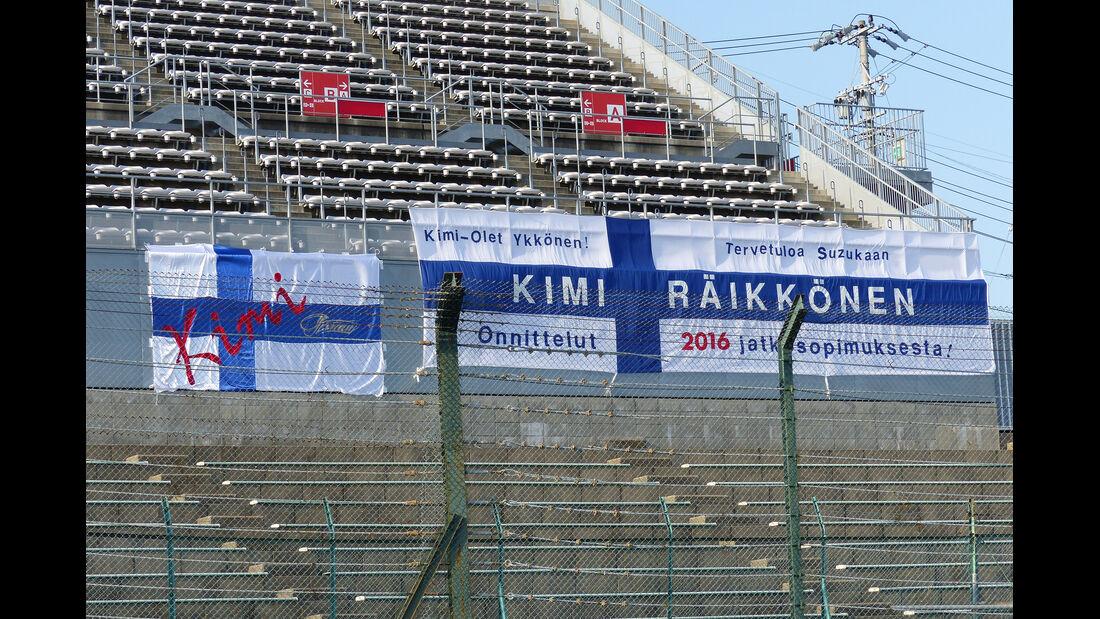 Räikkönen-Fans - Formel 1 - GP Japan - Suzuka - 23. September 2015