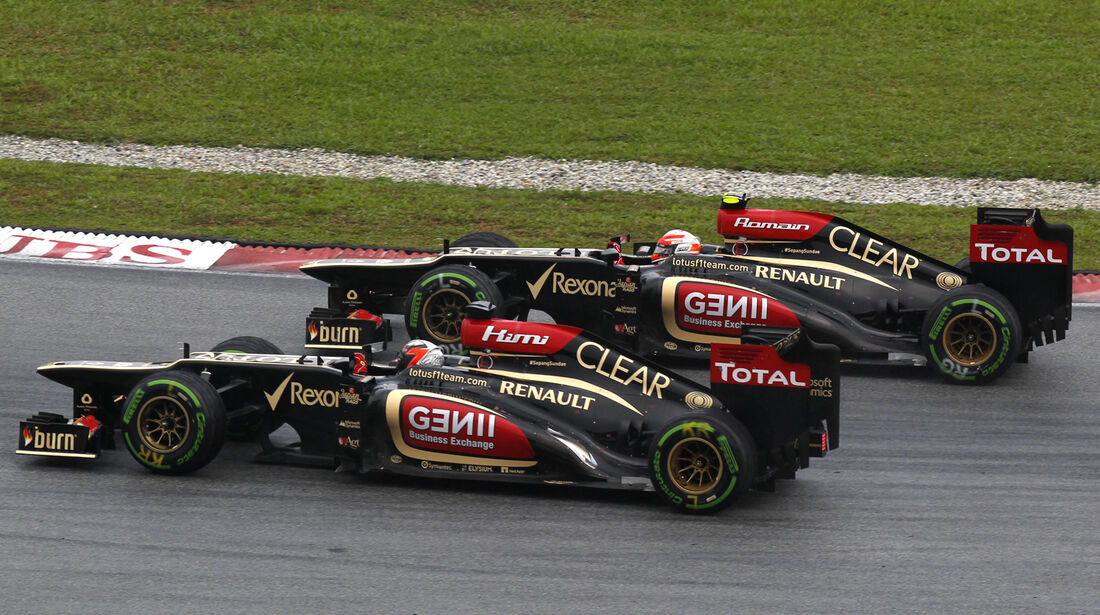Räikkönen & Grosjean GP Malaysia 2013