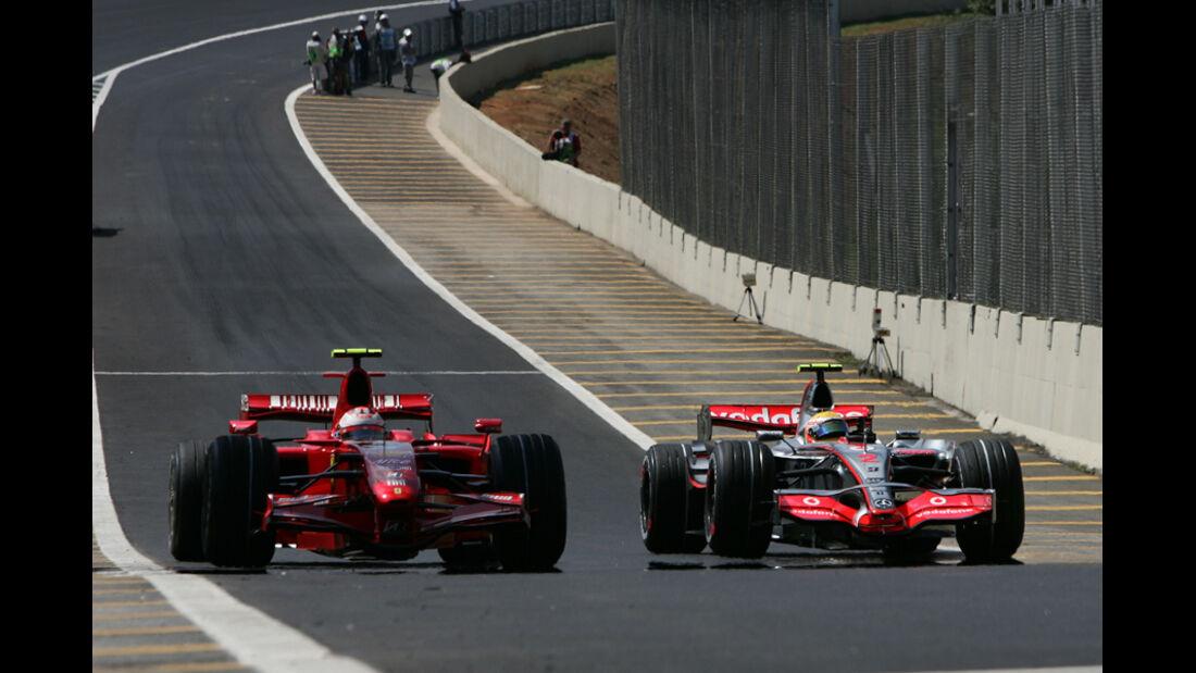 Räikkönen Hamilton  2007
