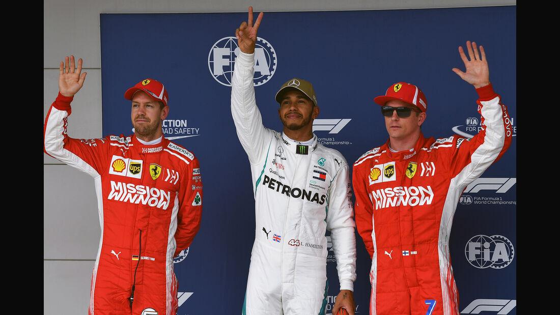 Räikkönen, Hamilton & Vettel - Formel 1 - GP USA - Austin - 20. Oktober 2018