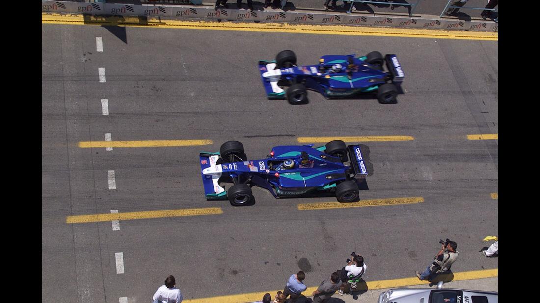 Räikkönen & Heidfeld 2001 Sauber GP Kanada