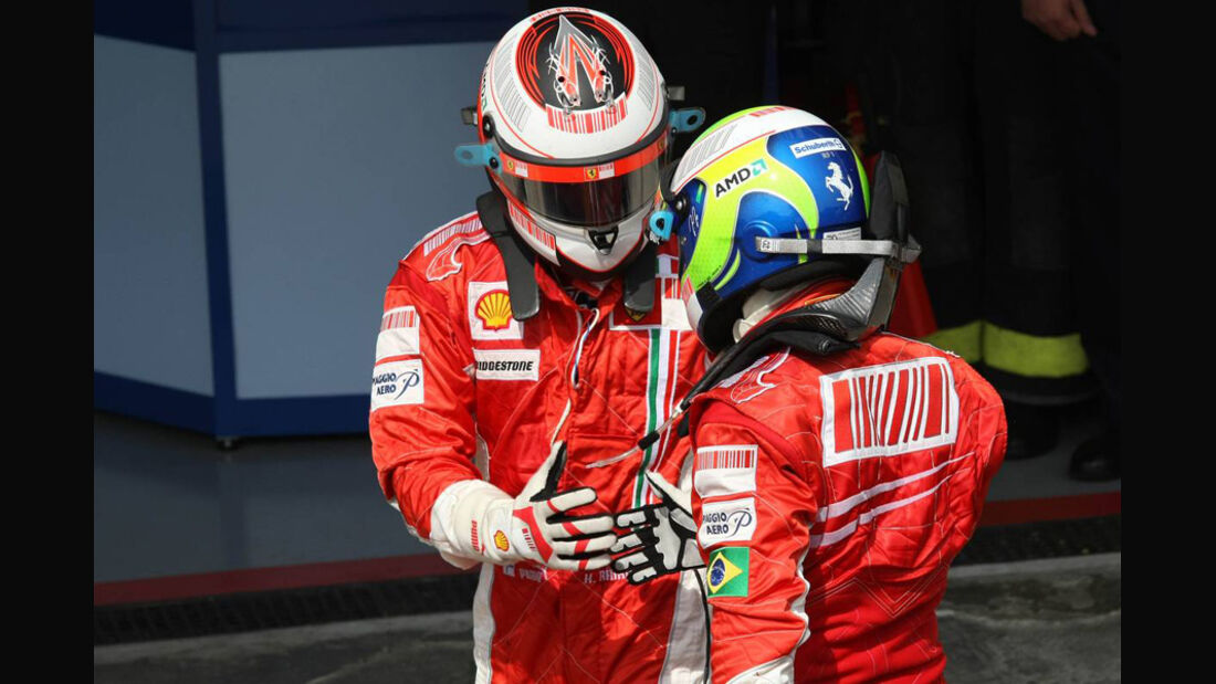 Räikkönen Massa 2007 GP Brasilien