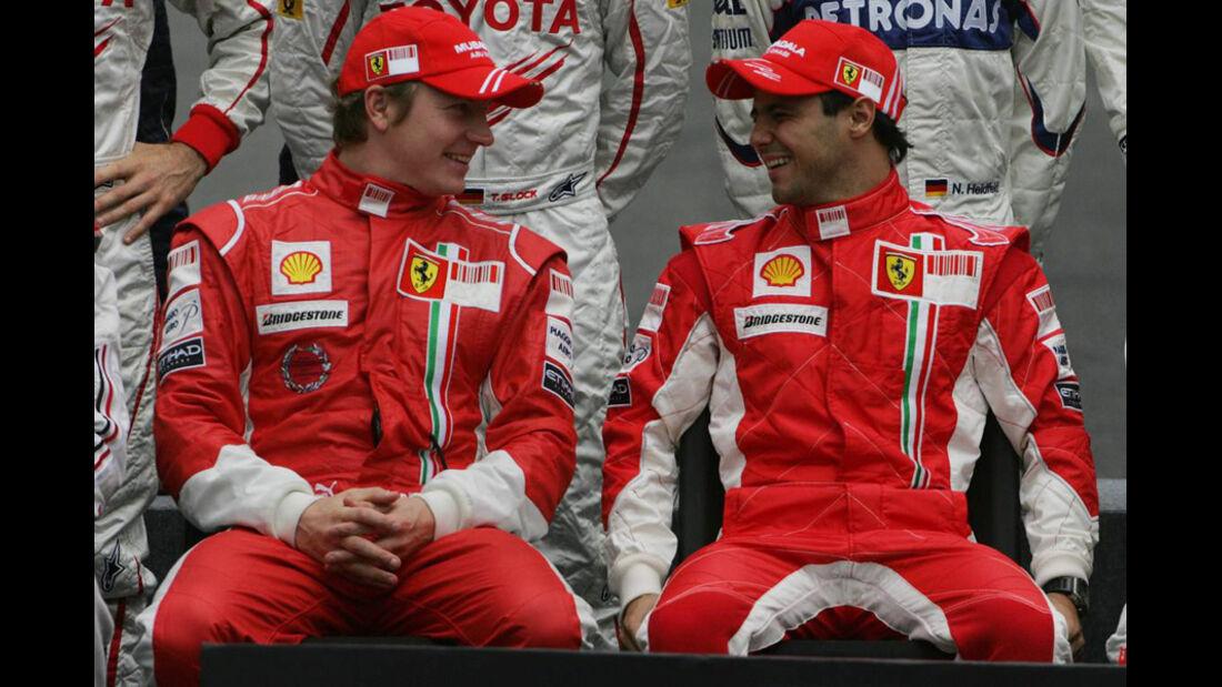 Räikkönen Massa 2008 GP Brasilien
