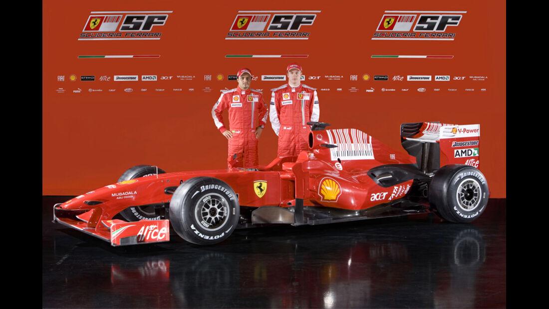 Räikkönen Massa Ferrari Präsentation 2009