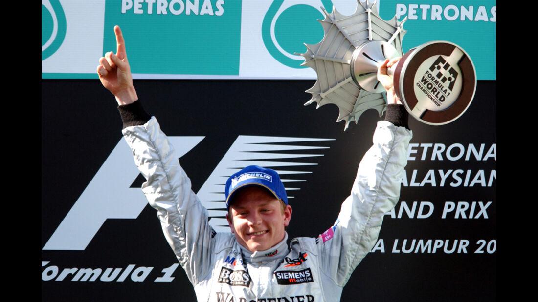 Räikkönen McLaren GP Malaysia 2003