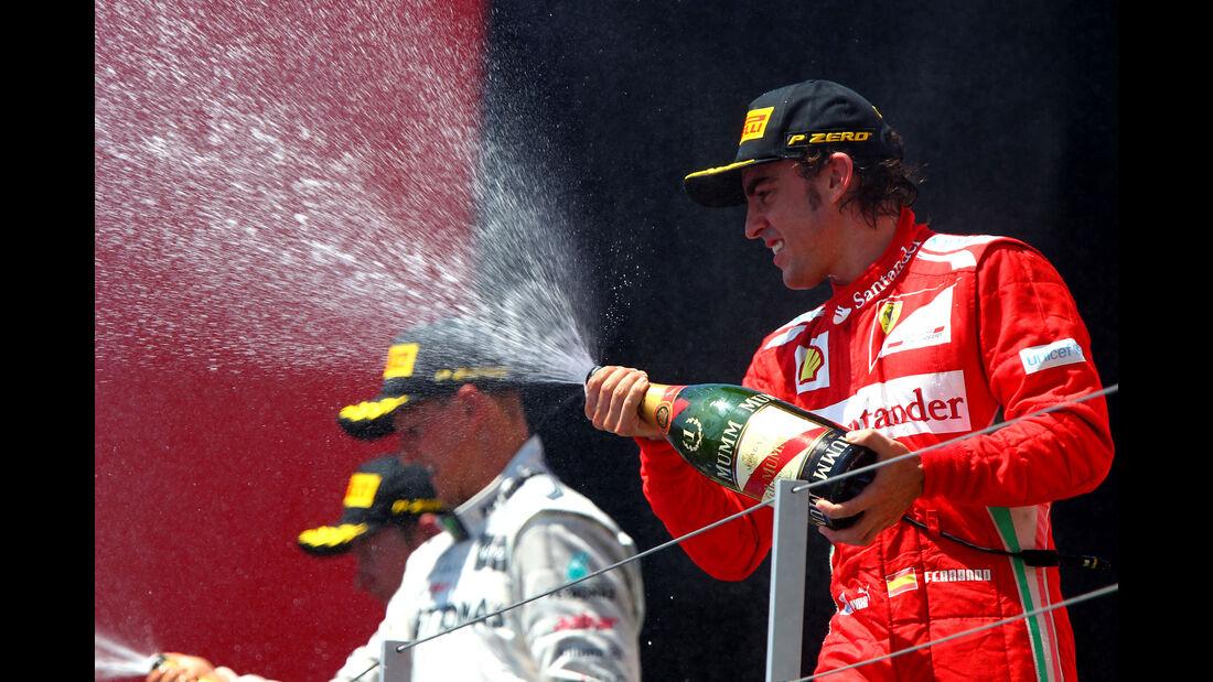 Räikkönen - Schumacher - Alonso - GP Europa 2012