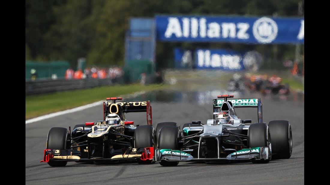 Räikkönen & Schumacher - GP Belgien 2012