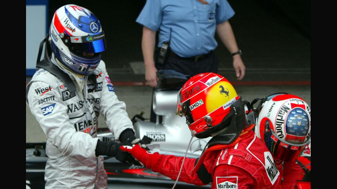 Räikkönen Schumacher GP San Marino 2003