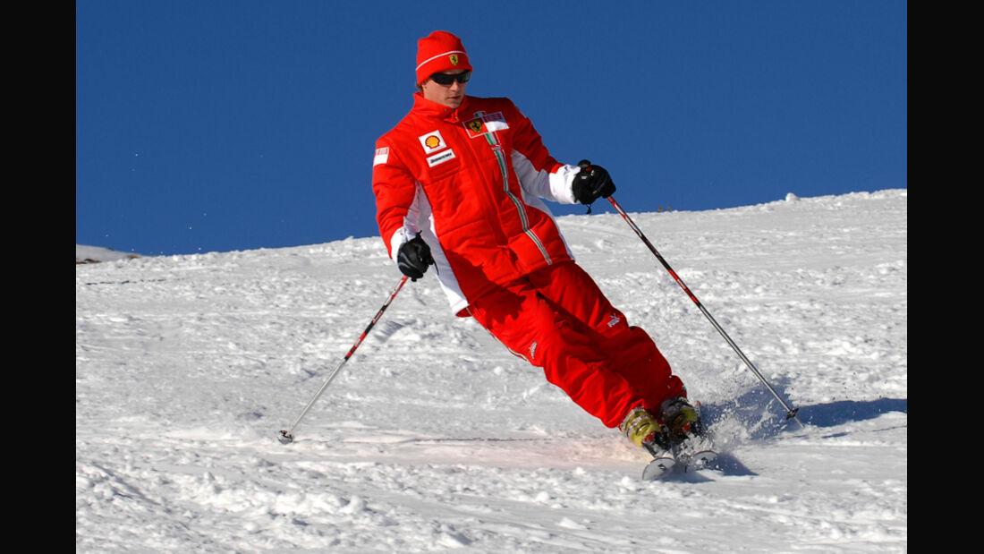 Räikkönen Skifahren Ferrari 2007