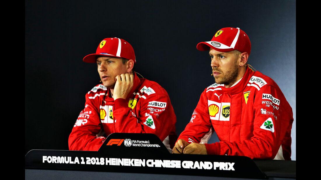 Räikkönen & Vettel - Ferrari - Formel 1 - GP China - Shanghai - 14. April 2018
