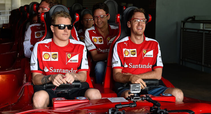 Räikkönen & Vettel - GP Abu Dhabi 2015