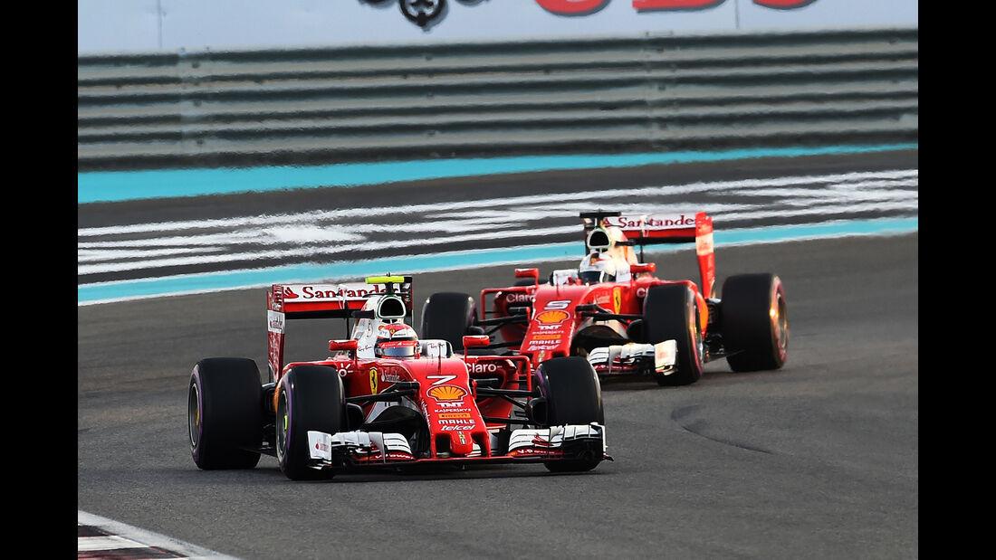 Räikkönen & Vettel - GP Abu Dhabi 2016