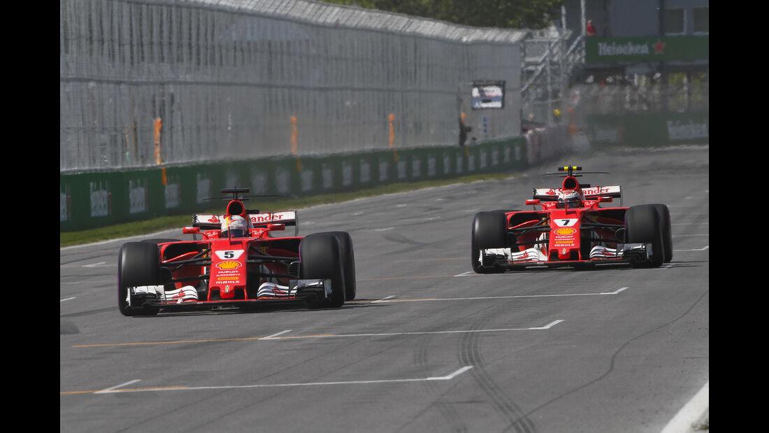 Räikkönen & Vettel - GP Kanada 2017