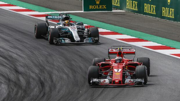Räikkönen vs. Hamilton - GP Österreich 2017