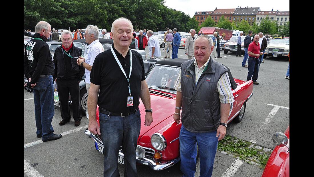 Rainer Seyfahrt und Alfred Lichtenberg mit dem NSU Wankel-Spider