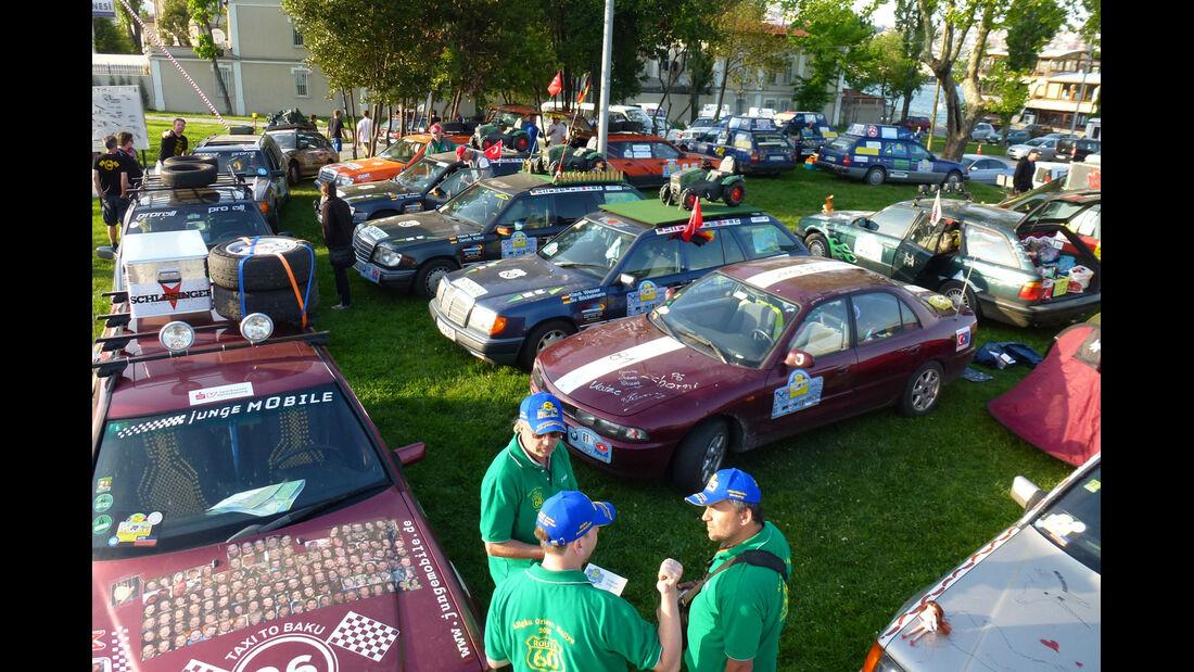 Rallye Allgäu-Orient, Fahrerlager