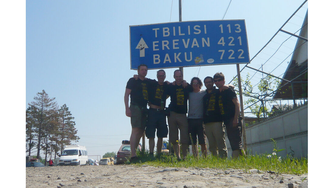 Rallye Allgäu-Orient, Straßenschild, Baku