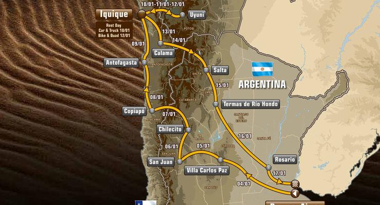 Rallye Dakar 2015 - Route
