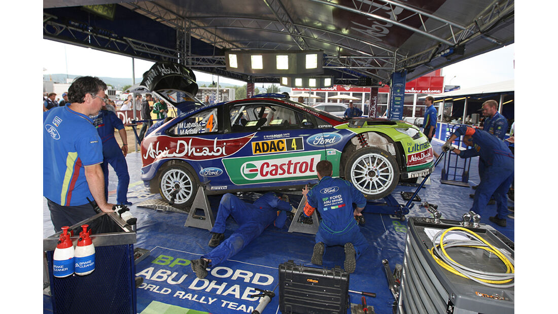 Rallye Deutschland 2010, Ford Focus RS WRC, Service