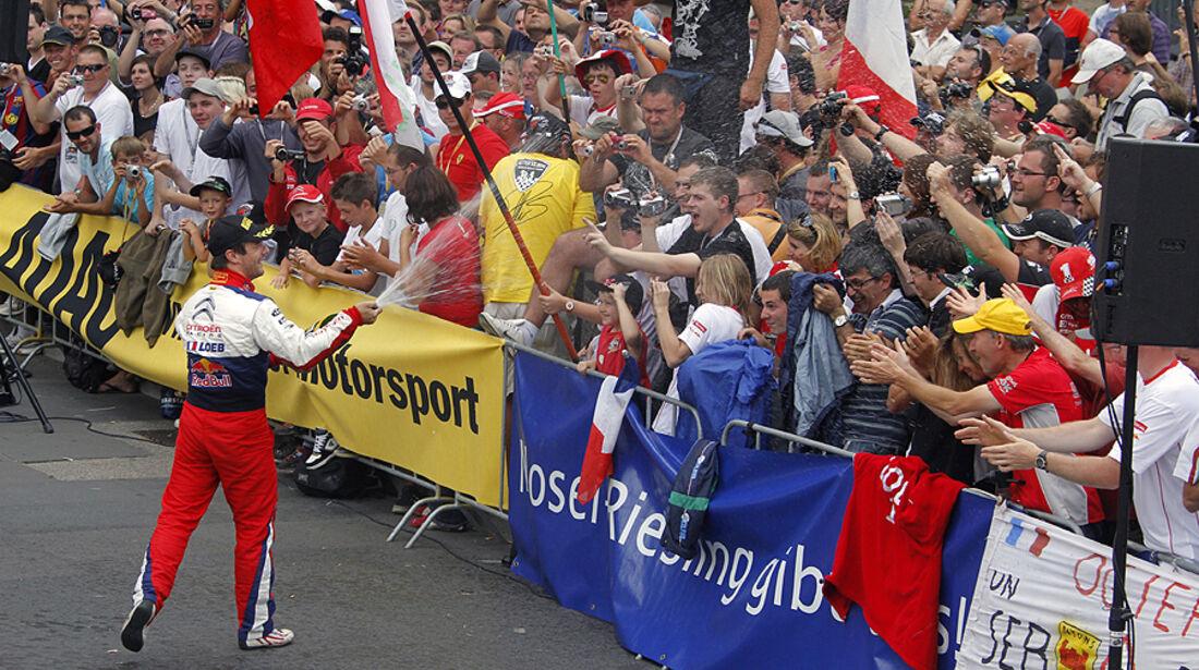 Rallye Deutschland 2010, Siegerehrung, Loeb