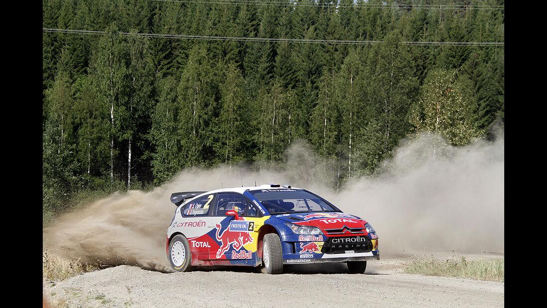 Rallye Finnland 2010, Ogier, Citroen C4 WRC, Drift