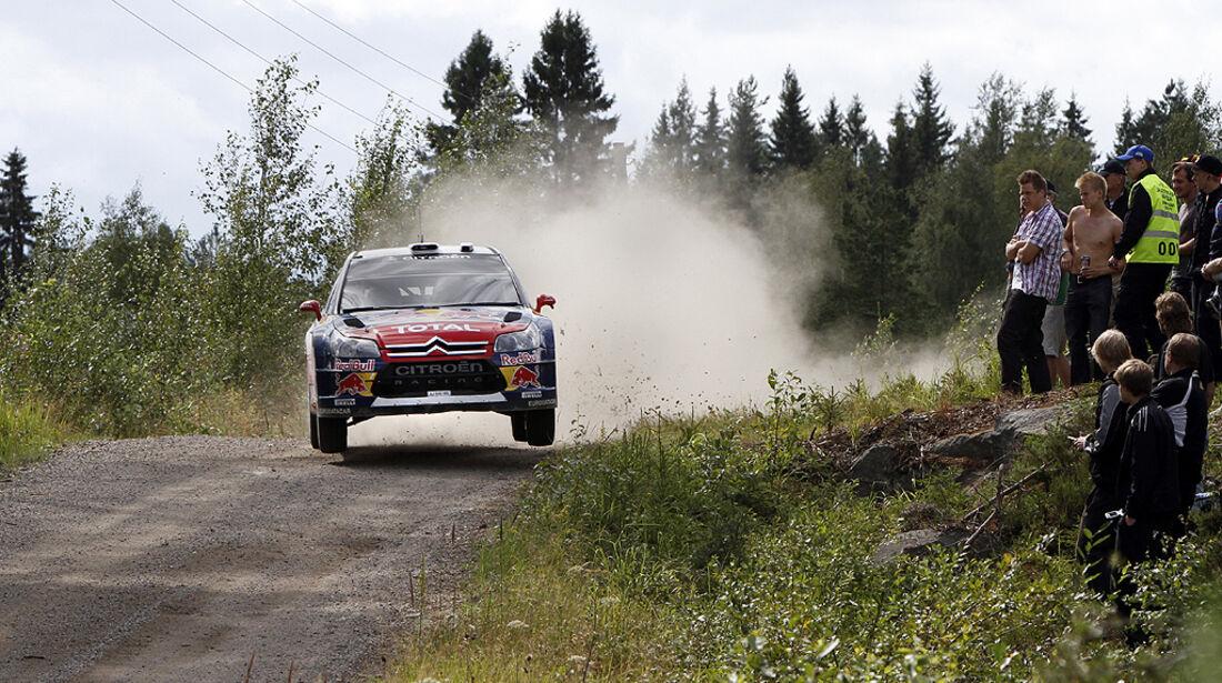 Rallye Finnland 2010, Ogier, Citroen C4 WRC, Sprung