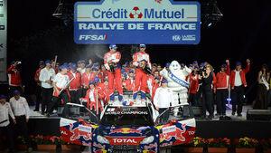 Rallye Frankreich Sebastien Loeb Podium 2012