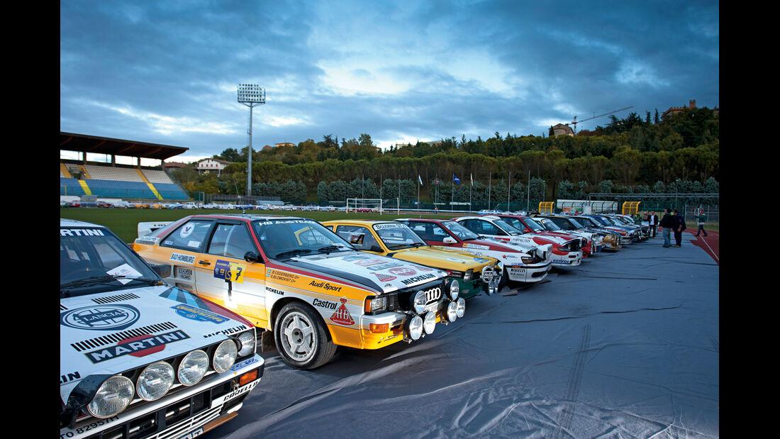 Rallye Legends, Starterfeld, Parkplatz
