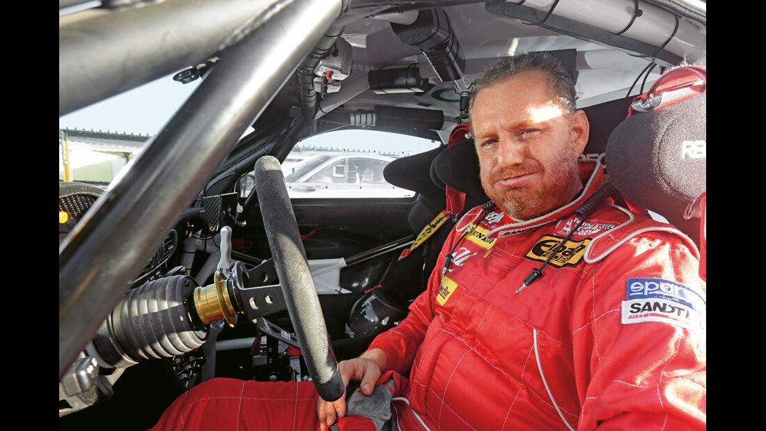 Rallye-Porsche 911 GT3, Cockpit, Fahrer