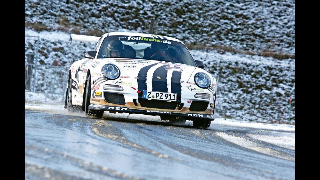Rallye-Porsche 911 GT3, Frontansicht